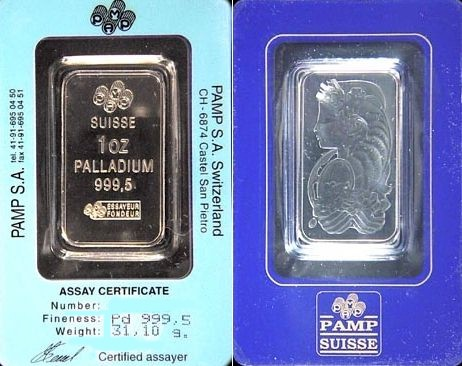 palladium bullion bar picture