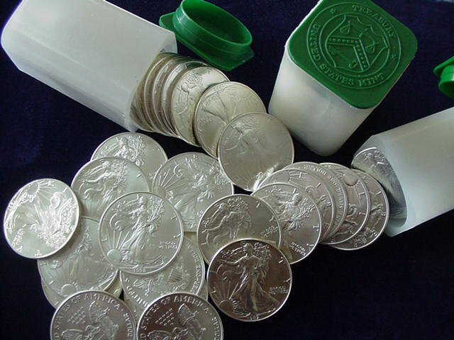 silver eagle coins, silver eagle dollars, American silver eagles - Goldmasters USA