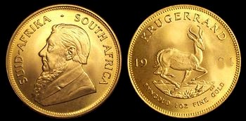 Gold Krugerrand Coin from South Africa - Picture