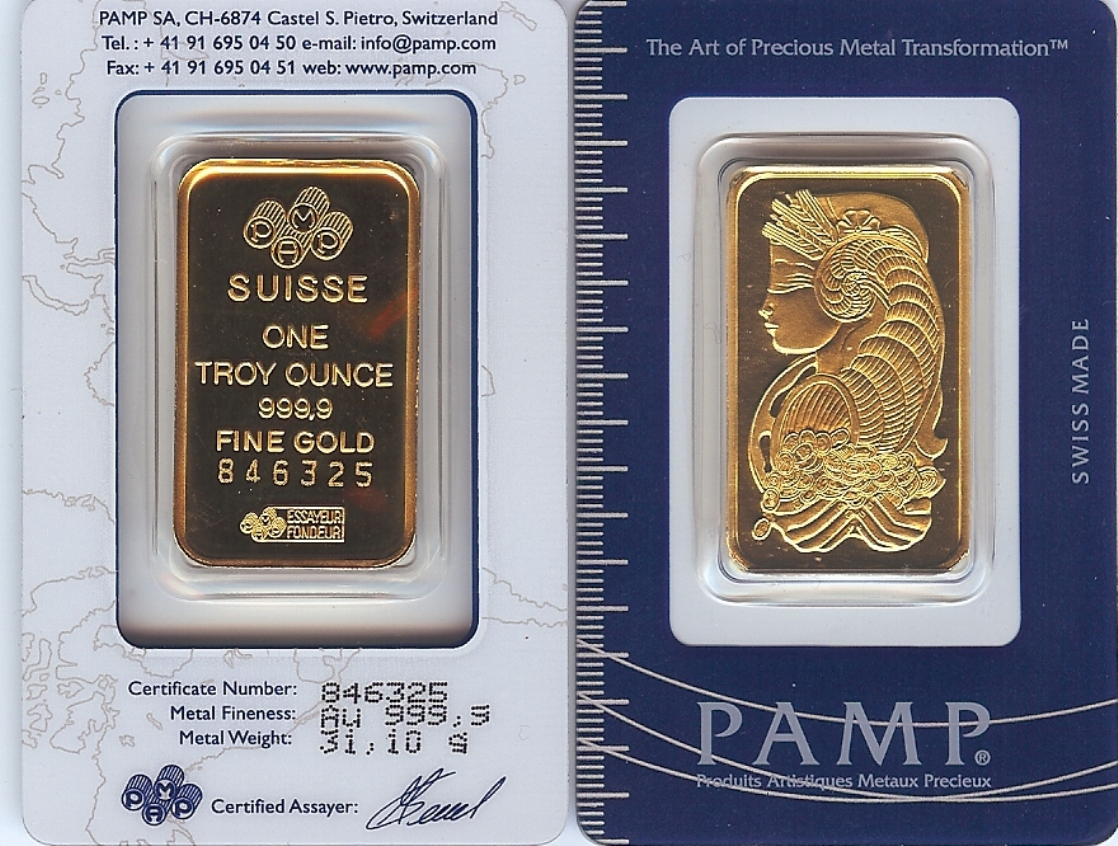 Pamp Swiss Gold Bar Picture At Goldmasters Usa