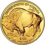 American Buffalo Gold Coin Reverse